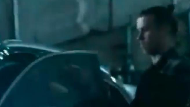 Bale se marchó en su coche antes del final del encuentro.