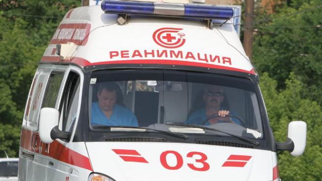 Imagen de archivo de una ambulancia en la ciudad rusa de Saratov.
