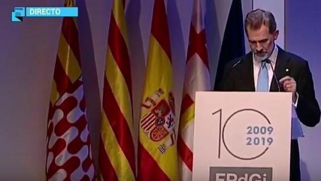 Discurso del rey en los Premios Fundación Princesa de Girona.