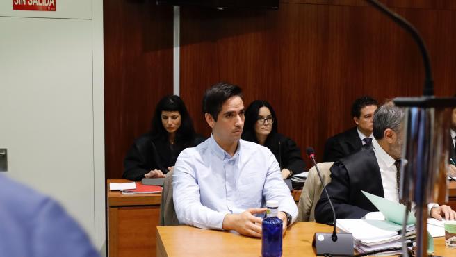 El acusado por el 'crimen de los tirantes', Rodrigo Lanza, durante el juicio