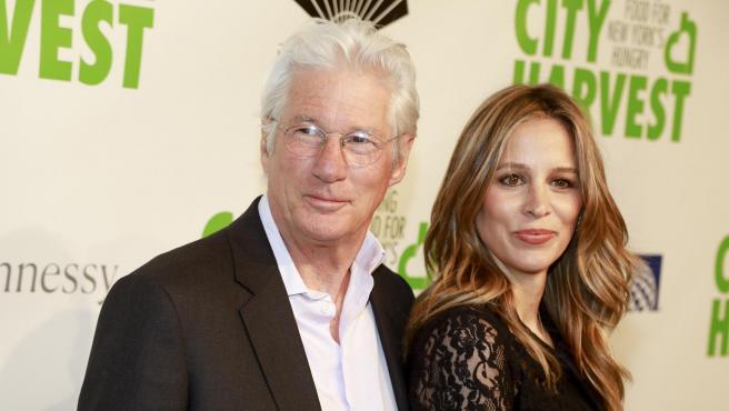 Richard Gere y Alejandra Silva en un evento el pasado mes de abril en Nueva York.