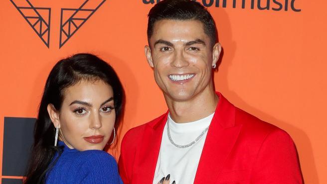 Cristiano Ronaldo y Georgina Rodríguez, en los MTV EMA Awards, en Sevilla, en 2019.