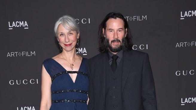 El actor Keanu Reeves junto con Alexandra Grant, en la gala LACMA Art + Film.