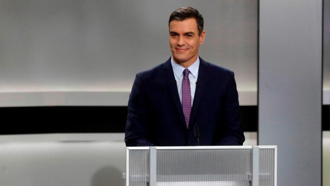 Pedro Sánchez, en el debate a cinco.