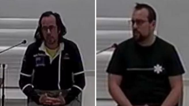 Los CDRs detenidos Jordi Ros y Ferrán Solis declaran en la Audiencia Nacional
