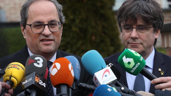 Los CDR detenidos tenían nombres en clave para Torra y Puigdemont: 'Gandalf' y '