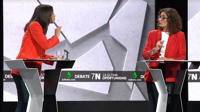 Arrimadas y Montero, en el debate