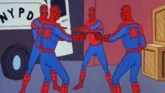 Meme de Spiderman aludiendo a las coincidencias en los nombres de las participantes en el debate electoral organizado por La Sexta.