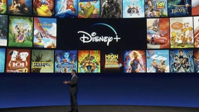 Presentación de Disney+.