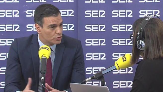 Pedro Sánchez, en una entrevista en La Ser.