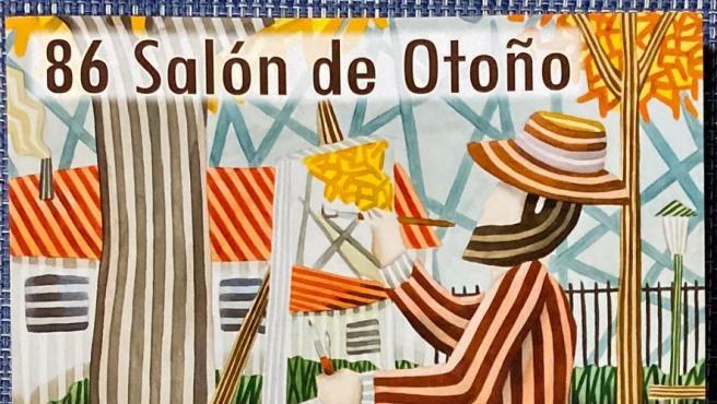 Cartel del Salón de Otoño de la Asociación Española de Pintores y Escultores.
