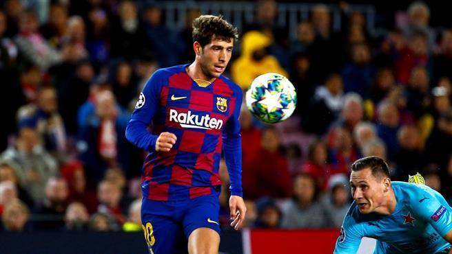 Sergi Roberto, en un partido del Barça