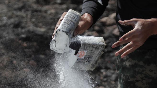 Imagen de recurso de un bloque de cocaína.