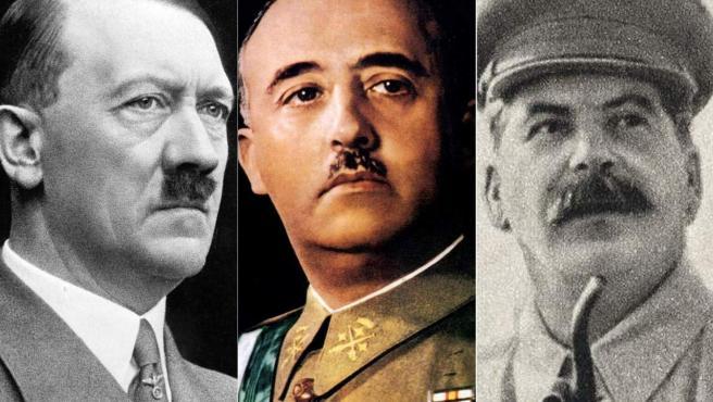 Hitler, Franco y Stalin