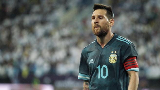 Leo Messi, con Argentina