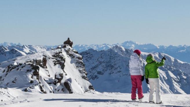Estación de esquí de Val di Pejo, en el Parque Nacional del Stelvio (Italia)