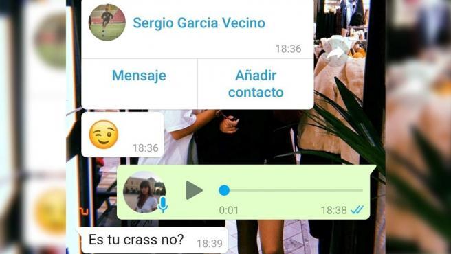 Conversación de WhatsApp entre Alba y su madre.