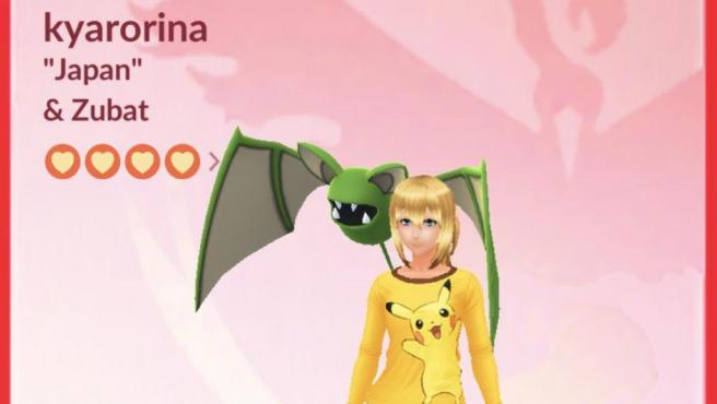 Kyarorina's profile, which has exceeded one million catches in 'Pokémon Go'.