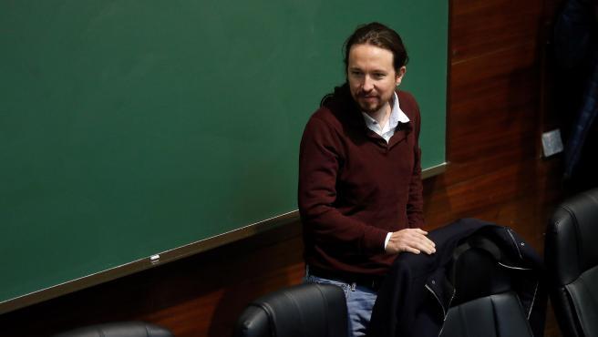 El líder de Podemos, Pablo Iglesias, este jueves.