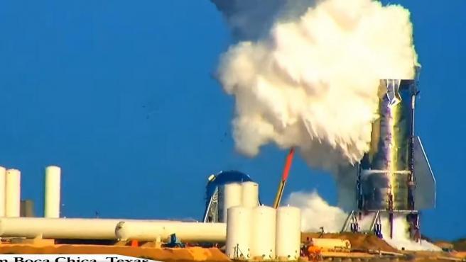 Explosión de Starship durante las pruebas.
