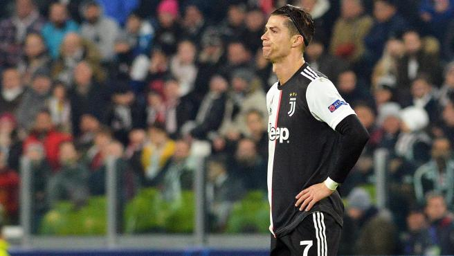 Cristiano Ronaldo, en el partido frente al Atlético de Madrid