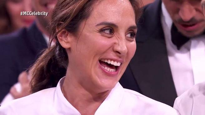 Tamara Falcó, tras proclamarse ganadora de 'MasterChef Celibrity 4'.