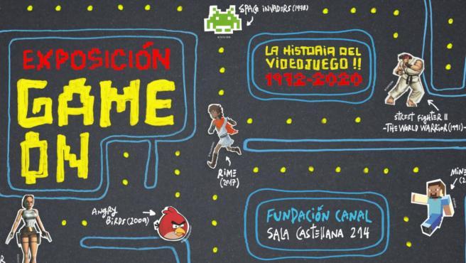 'Game On. La historia del videojuego' se puede visitar en la Fundación Canal de Madrid hasta el 31 de mayo.