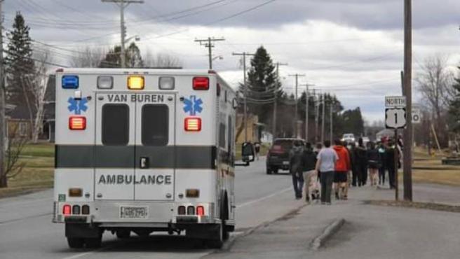Imagen de archivo de una ambulancia de la localidad de Van Buren, en Maine (EE UU).