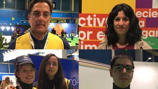 Voluntarios de la Cumbre del Clima de Madrid.