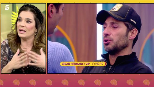 Raquel Bollo habla sobre el estado de Antonio David Flores en 'Sálvame'.