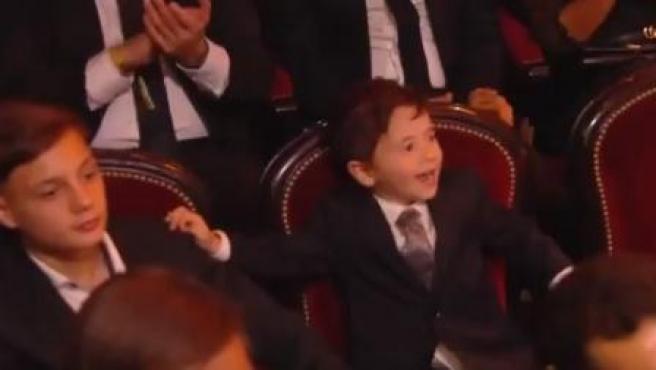 Mateo Messi, en la gala del Balón de Oro.