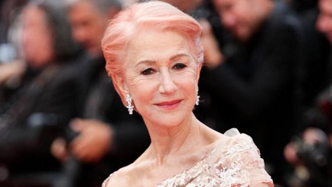 Helen Mirren en el festival de Cannes