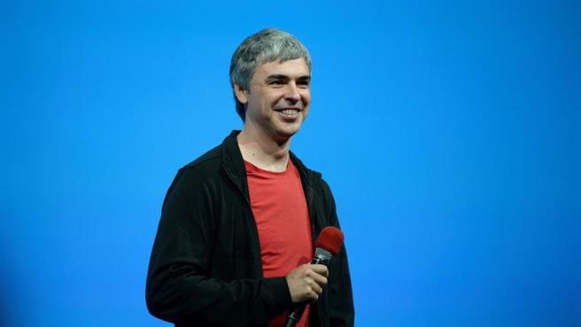 Larry Page, cofundador de Google, durante una conferencia de desarrolladores de la empresa en San Francisco (EE UU), en 2013.