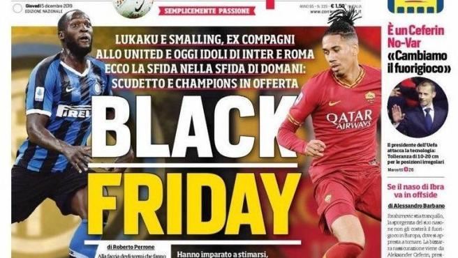 La portada racista del Corriere dello Sport, con Lukaku y Smalling.
