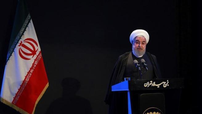 El presidente de Irán, Hasan Rohaní, en Teherán.