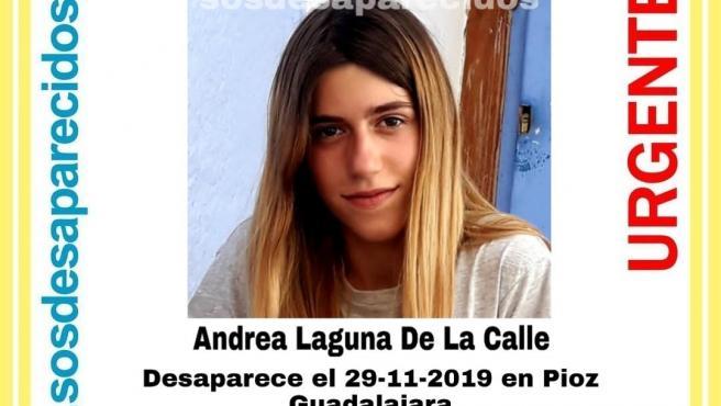 Andrea Laguna De La Calle, de 15 años, desaparecida en Pioz.