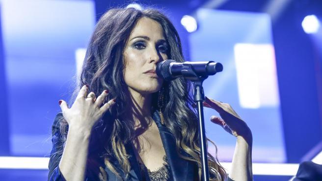 La cantante Malú, durante una actuación en 'Operación Triunfo 2018'.