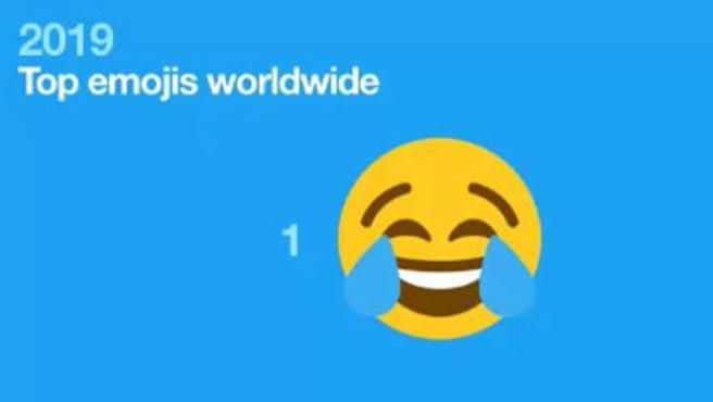 La cara que llora de risa, el 'emoji' número uno.