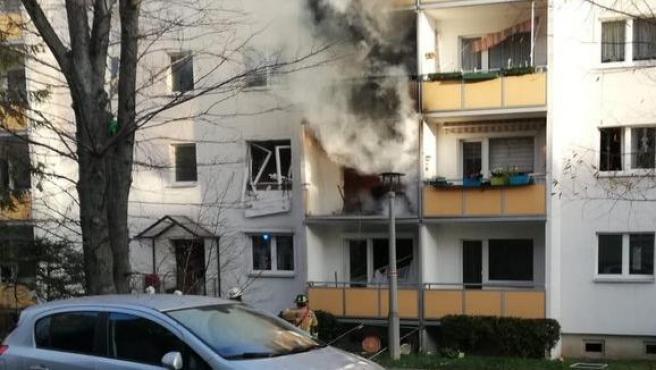 Edificio de Blankenburg (Alemania) en el que se ha registrado una explosión.