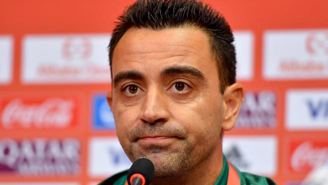 Xavi Hernández, en una rueda de prensa.