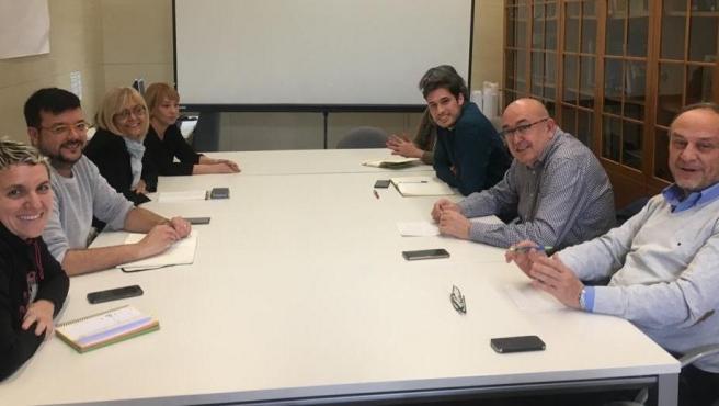 Reunió de la comissió de seguiment del pacte del Govern del Rialto d'aquest dilluns.