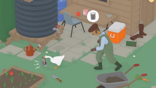 Imagen del delirante videojuego 'Untitled Goose Game'