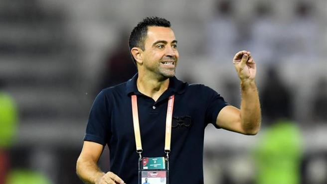 Xavi Hernández, durante un partido del Al-Sadd.