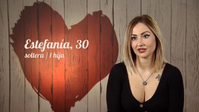 Estefanía, en 'First dates'.