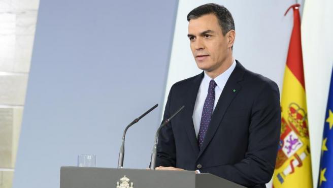 Pedro Sánchez, en rueda de prensa la semana pasada.