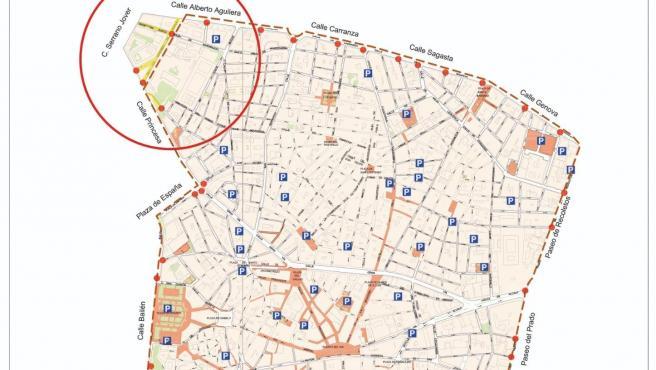 Cambio en el mapa de Madrid Central
