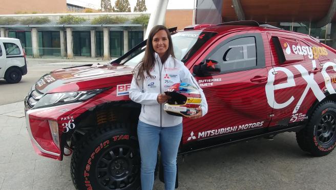 Cristina Gutiérrez, piloto de Mitshubishi en el Dakar 2020.