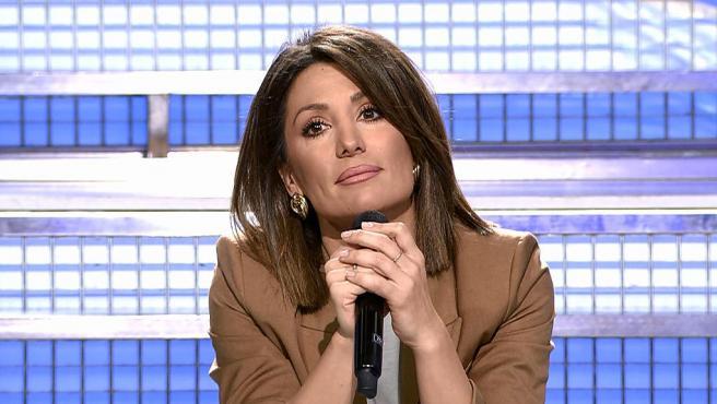 Nagore Robles durante su primer día como presentadora de 'Mujeres y hombres y viceversa'.