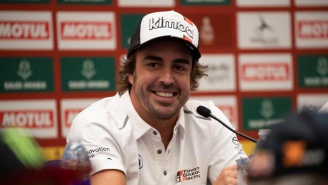 Fernando Alonso, en rueda de prensa.