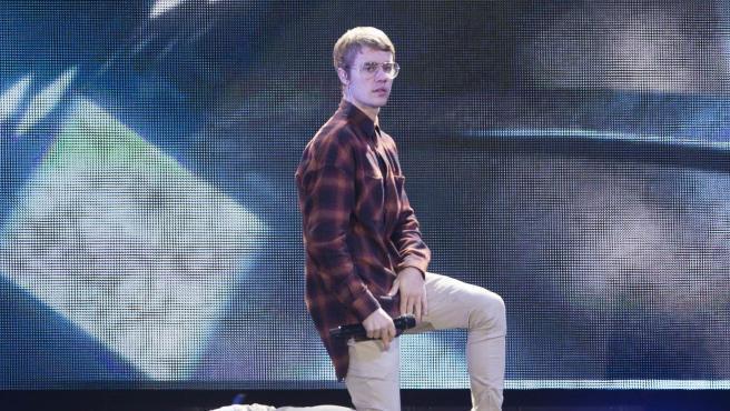 Justin Bieber en una de sus actuaciones en Madrid.